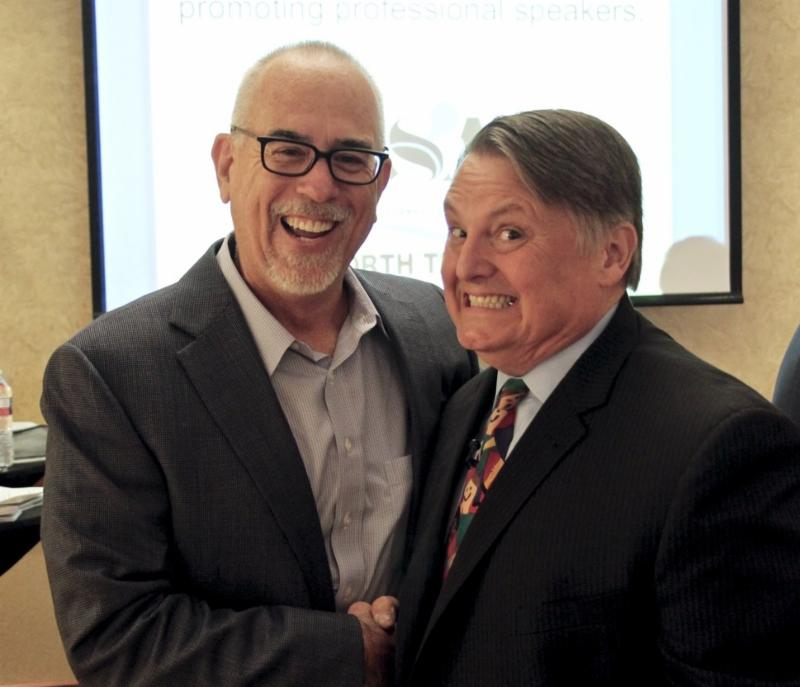 NSA-NT Past President Russ Riddle and speaker Tim Gard, CSP, CPAE