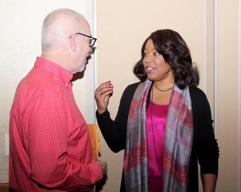 Past President Russ Riddle and Member Candidate Debra Hunter Johnson