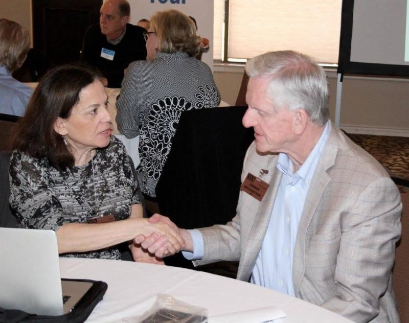 NSA-NT Member Melinda Marcus, CSP and Past President Dennis McCuistion, CSP