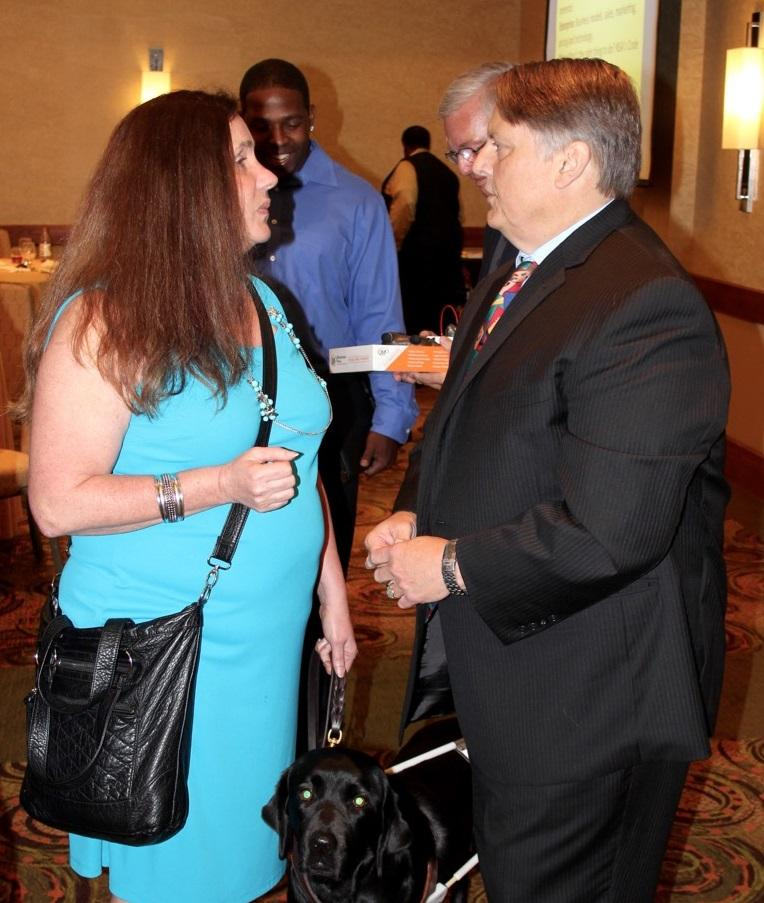 NSA-NT Member Donna Mack (with Wella) and speaker Tim Gard