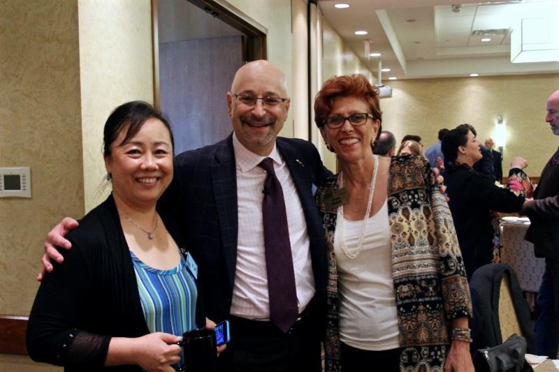 Lia Bai, Speaker Todd Cohen and Nikki Nanos