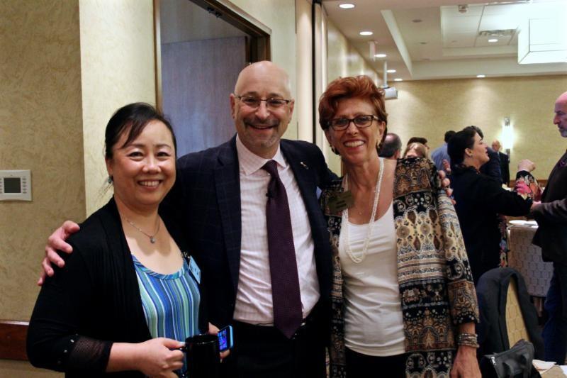 Lia Bai, Speaker Todd Cohen and Nikki Nanos