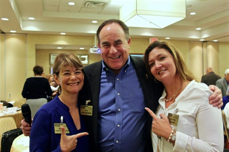 Karen Cortell Reisman, President Stu Schlackman and Director of Programming Victoria Williams