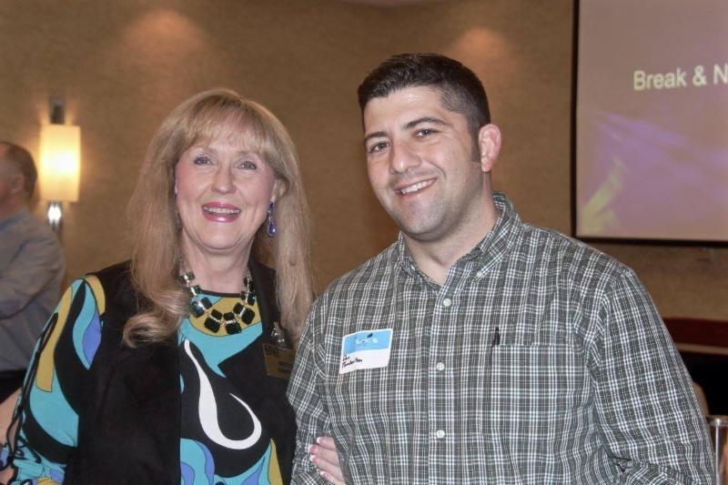 NSA-NT Vice President Betti Coffey with student Dan Pemberton