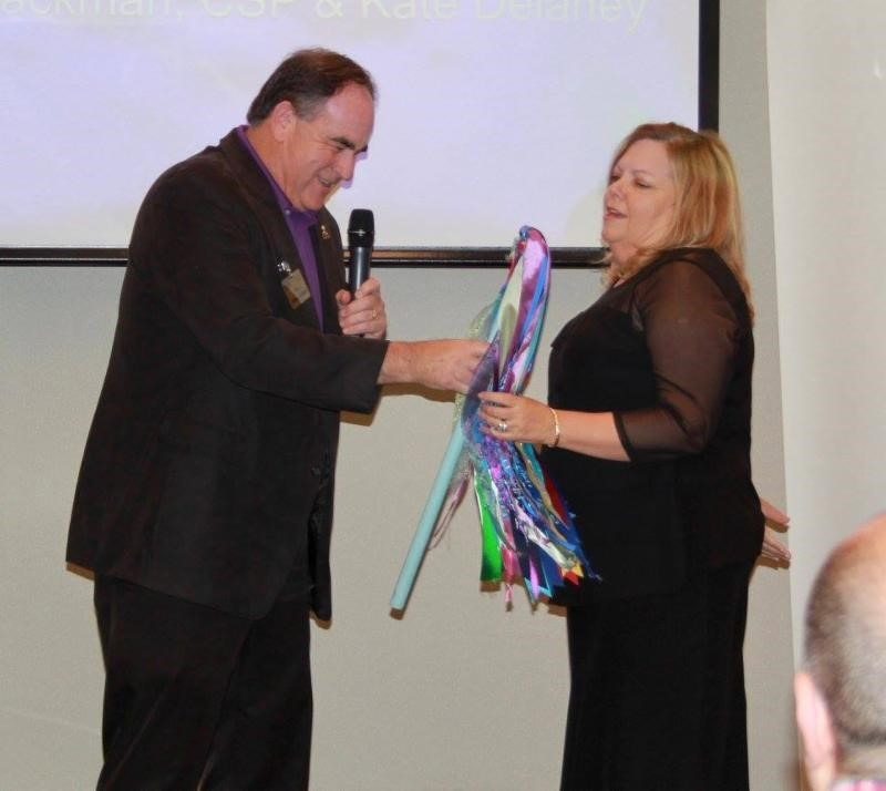 President Stu Schlackman, CSP turns over the presidency to Kate Delaney