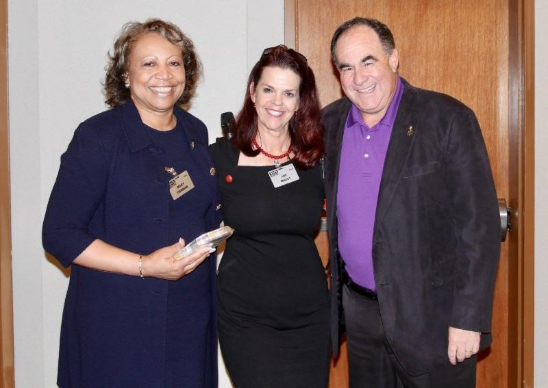 NSA-NT Members Mary German and Joy Macci with Outgoing President Stu Schlackman, CSP