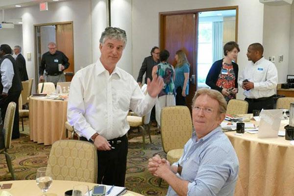 Dave Lieber CSP and NSA-NT Secretary Chuck Inman during a break