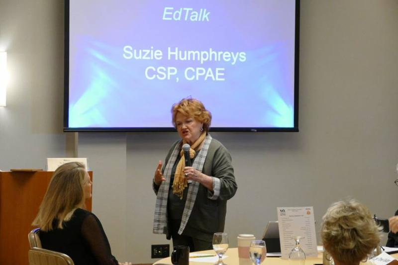 Hall of Fame Speaker Suzie Humphreys Gives the Ed Talk