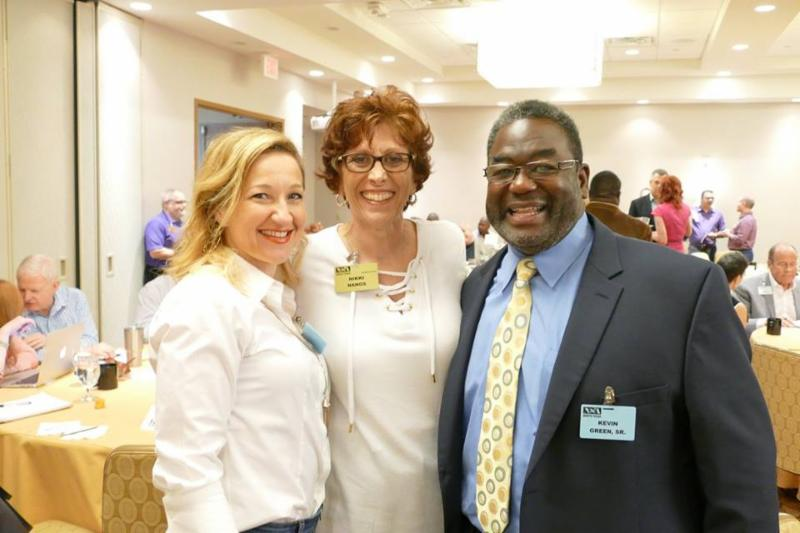 Mary Arcement Alexander, Academy Dean Nikki Nanos and Kevin Green, Sr.
