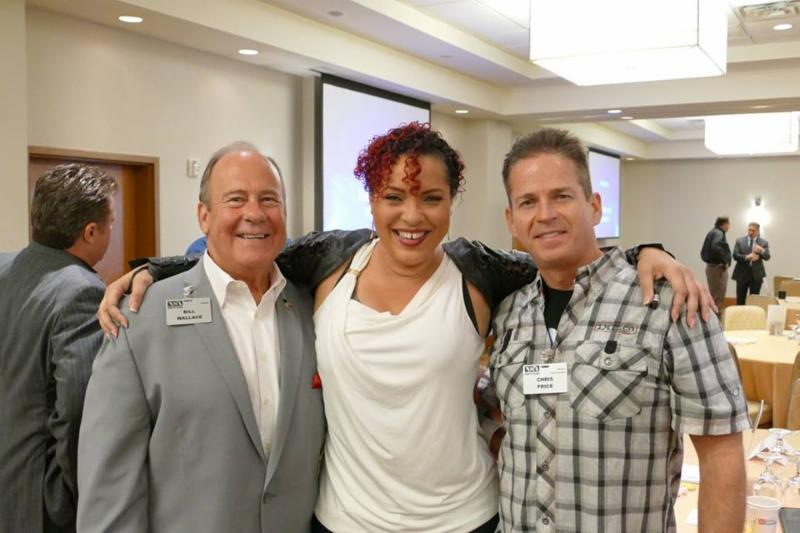 Bill Wallace, Dawnna St Louis and Past President Chris Price