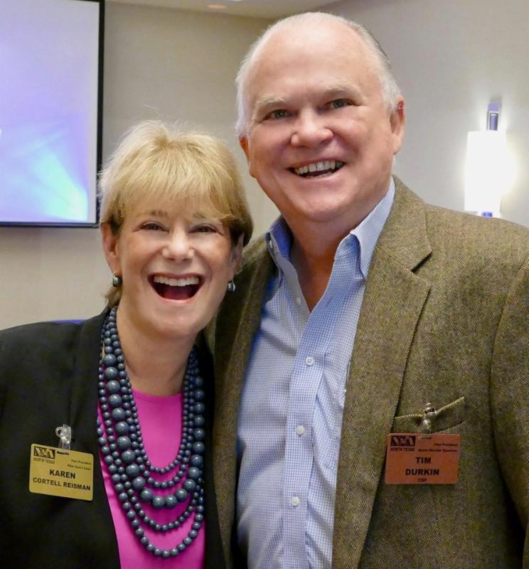 Past Presidents Karen Cortell Reisman and Tim Durkin, CSP