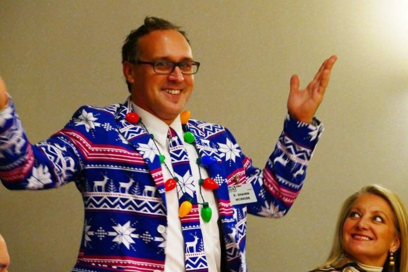 Shawn McBride Gets in the Christmas Spirit